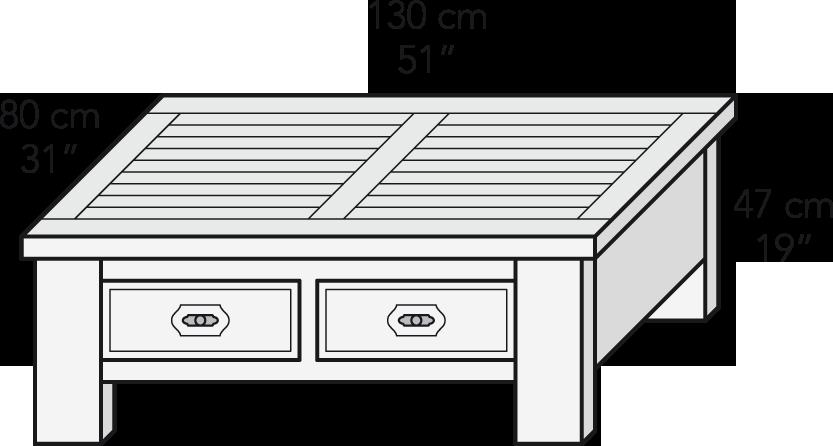 Mesa centro cajones