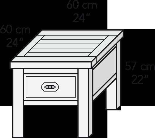 Mesa rincón