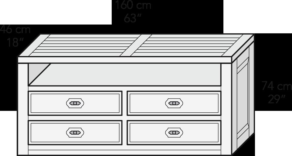 Módulo mesa TV 160 cm