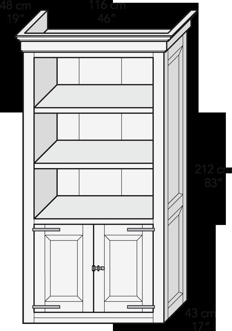 Módulo librero puertas