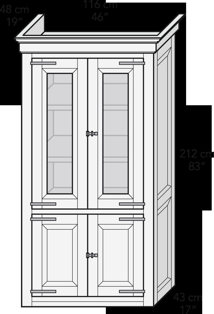 Módulo vitrina puertas