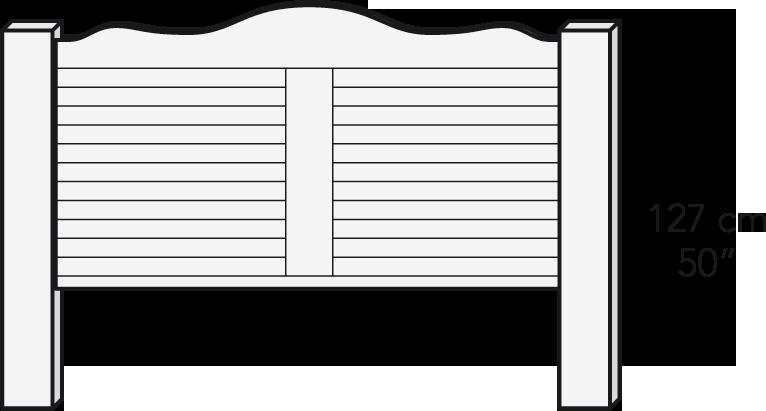 Cabezal plafón 180 cm