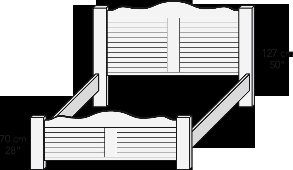 Cama plafón 180 cm
