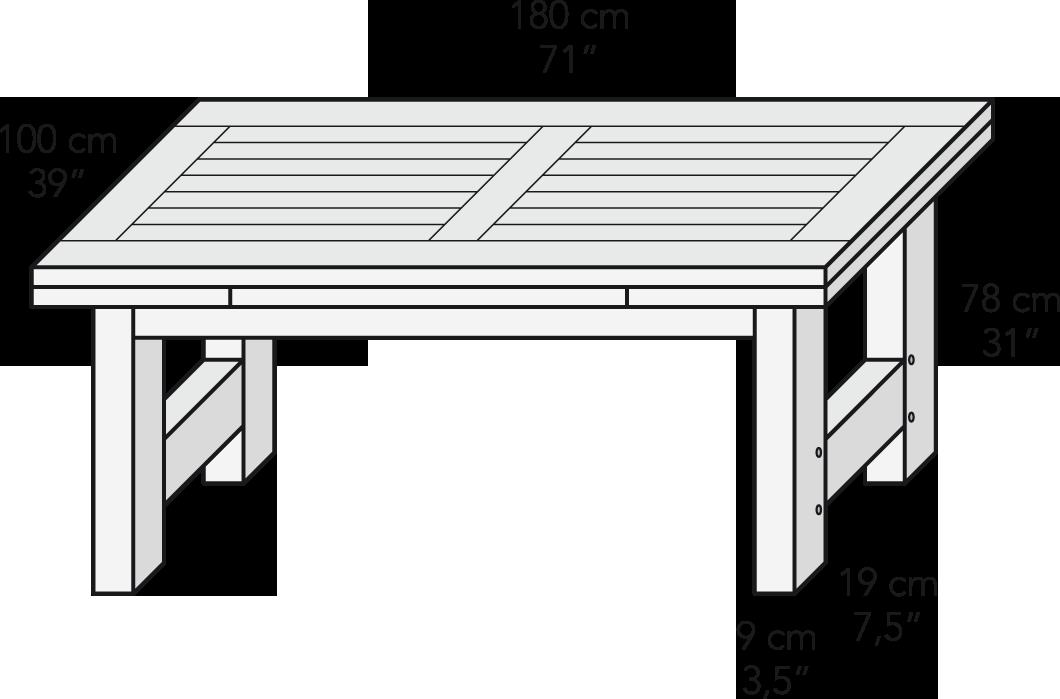 Mesa extensible 180 x 100 cm